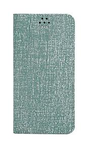 Для Кошелек / Бумажник для карт / со стендом / Флип Кейс для Чехол Кейс для Один цвет Твердый Искусственная кожа для Samsung Note 5
