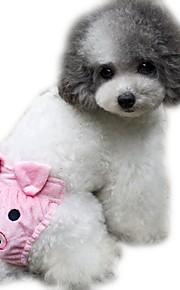 katten / honden Broeken Geel / Roze / Naakt Hondenkleding Winter / Zomer / Lente/Herfst Cartoon Schattig