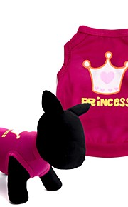 honden T-shirt / Gilet Rood / Roze Hondenkleding Zomer Tiara's & Kronen Schattig / Modieus
