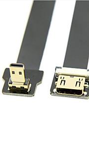Cy® Micro HDMI-Mini HDMI Plaqué or Adaptateur 1080P 0,5m (1.5ft)