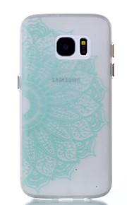För Självlysande fodral Skal fodral Spetsdesign Mjukt TPU för Samsung S7 edge S7