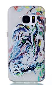 För Självlysande fodral Skal fodral Djur Mjukt TPU för Samsung S7 edge S7