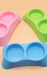 Cat Dog Bowls & Water Bottles Pet Bowls & Feeding Portable Green Blue Pink Plastic