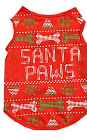 Hundar Väst Röd Hundkläder Vinter Vår/Höst Britisk Gulligt Ledigt/vardag