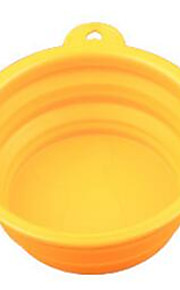 Cat Dog Bowls & Water Bottles Pet Bowls & Feeding Portable Foldable Red Blue Yellow Silicone