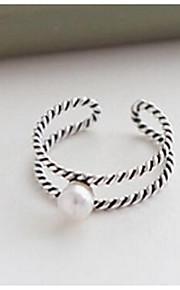 Ringe / Afslappet Smykker Sølv Dame Ring 1 Stk.,En størrelse Sølv