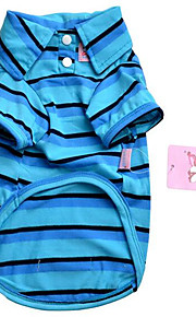 כלבים טי שירט סוודרים Red כחול בגדים לכלבים קיץ/אביב Pasek חמוד יום יומי\קז'ואל