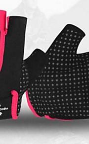 BODUN /SIDEBIKE® スポーツグローブ 女性用 サイクルグローブ 春 夏 秋 冬 サイクルグローブ 耐摩耗性 耐久性 保護 反射材 フィンガーレス 合成繊維 サイクルグローブ グリーン レッド フィットネス