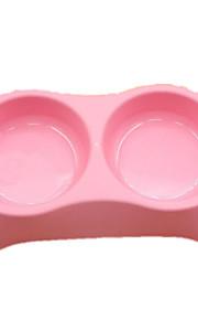 Gato Perro Cuencos y Botellas de Agua Mascotas Cuencos y Alimentación Portátil Verde Azul Rosa Plástico