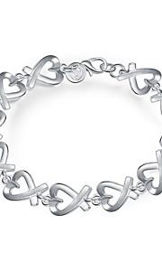 Armbånd Kæde & Lænkearmbånd Plastik Sølvbelagt Hjerteformet Mode Boheme Stil Punk Stil Personaliseret Daglig Afslappet Smykker Gave Sølv,