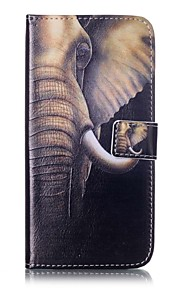 For Apple iPhone7 iPhone7 Plus iphone6s iphone6s Plus iphone6 iphone6 Plus The Elephant Pattern PU Leather Case for iphone SE 5s 5c 5