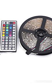5m 5050 150 smd IP44 rgb ac 12v med 44 tasters fjernkontroll lys sett