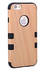For IPhone 7 Plus 7 6 Plus 6 5s Shockproof Dustproof Case Full Body Case Wood Grain Hard Wooden Case