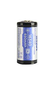 xtar 16340 650mAh 3.6V 2.405wh li-ion oppladbart batteri