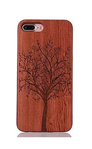 Pour Antichoc Relief Motif Coque Coque Arrière Coque Arbre Dur Bois pour AppleiPhone 7 Plus iPhone 7 iPhone 6s Plus/6 Plus iPhone 6s/6