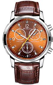 Masculino Relógio de Moda Quartzo PU Banda Vintage Preta Branco Marrom marca