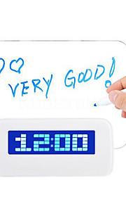 메시지 보드의 USB 4 포트 허브와 LED 형광 디지털 알람 시계