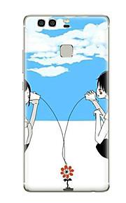 Für Muster Hülle Rückseitenabdeckung Hülle Herz Weich TPU für Huawei Huawei P9 Huawei P9 Lite Huawei P9 plus Huawei P8 Huawei P8 Lite