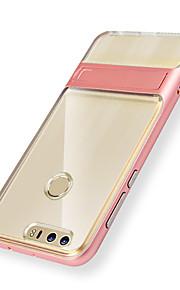 Voor met standaard hoesje Achterkantje hoesje Effen kleur Hard TPU voor Huawei Huawei P9 Huawei Honor 8 Huawei Honor V8 Huawei Mate 8