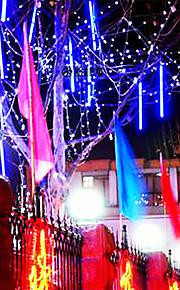 8pcs 30cm LED-lys rør meteorregn regn rør ledet lysene bryllupsfesten hagevent streng lys utendørs