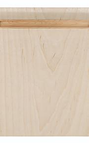 Samdi zacht houten muismat mat multi-functioneel met penhouder ultra glad oppervlak voor de muis met massief houten penhouder witte berk