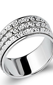 Ringe Ikke-sten Fest Daglig Smykker Sølv Dame Ring 1 Stk.,13 15 18 21 22 23 Sølv