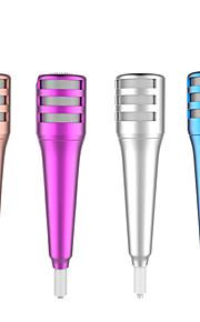 mini-microfone estéreo microfone de gravação de som condensador com fone de ouvido para o iphone ipad conversando cantar karaoke