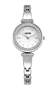 KEZZI Mulheres Relógio de Moda Bracele Relógio Quartzo Quartzo Japonês Lega Banda Casual Elegantes Prata Ouro Rose Dourado Prata Rosa