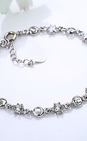 Armbånd Kæde & Lænkearmbånd Sølvbelagt Andre Mode Smykker Gave Sølv,1 Stk.