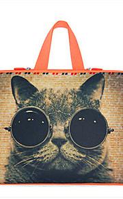 för macbook air pro 11,3 '' 13,6 '' 15,4 '' laptop ärmar vattentät mjuka täck bärbara handväskor flexibla katt tecknad mönster