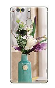 Für Muster Hülle Rückseitenabdeckung Hülle Blume Weich TPU für Huawei Huawei P9 Huawei P9 Lite Huawei P9 plus Huawei P8 Huawei P8 Lite