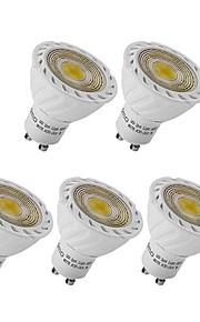 3W GU10 GX5.3 LED-spotpærer MR16 1 COB 250 lm Varm hvit Kjølig hvit Dekorativ AC 220-240 V 5 stk.