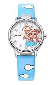 KEZZI Infantil Relógio de Moda Quartzo Quartzo Japonês PU Banda Casual Branco Azul Vermelho Rosa RoxaBranco Preto Azul Claro Azul Rosa