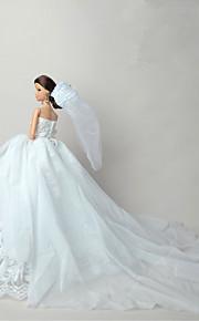 결혼식 드레스 에 대한 바비 인형 화이트 레이스 드레스 용 여자의 인형 장난감