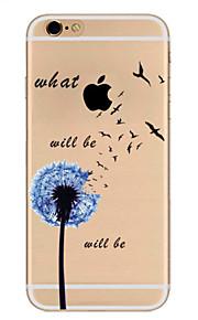Pour Ultrafine Motif Coque Coque Arrière Coque Pissenlit Flexible PUT pour Apple iPhone 7 Plus iPhone 7 iPhone 6s Plus/6 Plus iPhone 6s/6