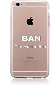 För Mönster fodral Skal fodral Ord / fras Mjukt TPU för AppleiPhone 7 Plus iPhone 7 iPhone 6s Plus/6 Plus iPhone 6s/6 iPhone SE/5s/5