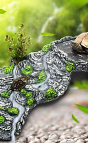 Aquário Decoração Ornamentos Pedras Atóxico & Sem Sabor Resina Cinzento