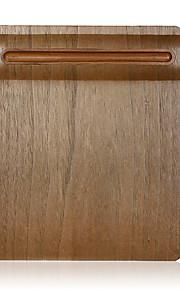 Samdi zacht houten muismat mat multi-functioneel met penhouder ultra glad oppervlak voor de muis met massief houten penhouder notenhout