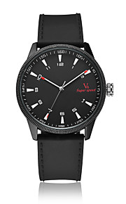 V6® Men's Fashion Watch Quartz / PU Band Casual Black Brown Green Brand