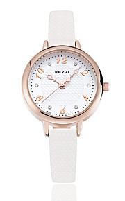 KEZZI Mulheres Relógio de Moda Quartzo Quartzo Japonês PU Banda Casual Preta Branco Vermelho Verde CáquiBranco Preto Marron Vermelho
