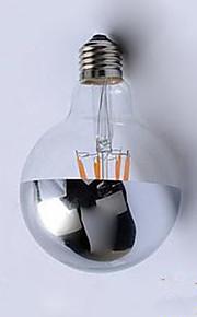 4W E26/E27 Lâmpadas de Filamento de LED G95 4 LED Integrado 400 lm Branco Quente Decorativa AC220 V 1 pç