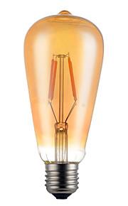 4W E26/E27 LED필라멘트 전구 ST64 4 SMD 5730 350 lm 따뜻한 화이트 장식 V 1개