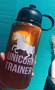 nieuwigheid cartoon to-go outdoor drinkware, 1000 ml draagbare lekvrije glas sap water nieuwigheid drinkware tumbler