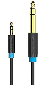 vention® 3,5 mm till 6,35 mm adapter jack ljudkabel för blandare förstärkare hane till male1.5m