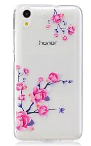 Voor Ultradun Patroon hoesje Achterkantje hoesje Bloem Zacht TPU voor Huawei Huawei Honor 5C
