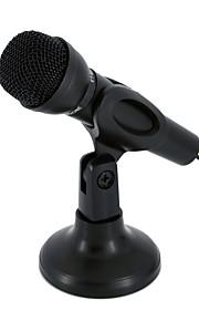 NO Com Fios Microfone de Karaoke 3.5mm Preto