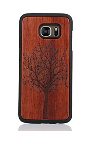 のために パターン ケース バックカバー ケース 樹木 ハード ウッド のために Samsung S7 edge S7
