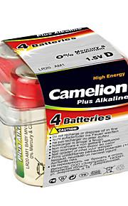 Camelion LR20-PB4 d alkalinebatterij 1.5V 4 stuks