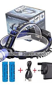 Otsalamput LED 2000 Lumenia 3 Tila Cree XM-L T6 18650 Säädettävä fokus Kompakti kokoTelttailu/Retkely/Luolailu Päivittäiskäyttöön