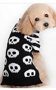 개 코트 블랙 강아지 의류 모든계절/가을 해골 캐쥬얼/데일리 스포츠